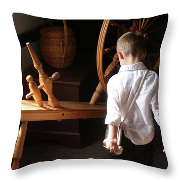 The Spinning Wheel Throw Pillow by Emanuel Tanjala