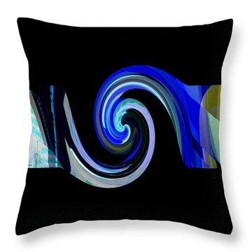 The Spiral Throw Pillow by Thibault Toussaint