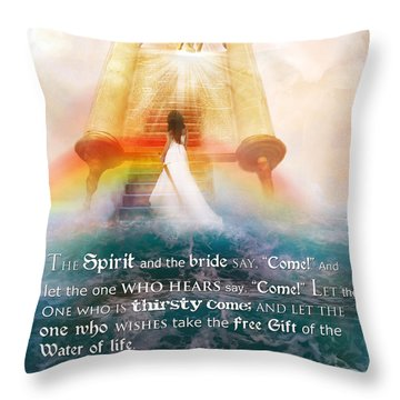 The Spirit And The Bride Throw Pillow