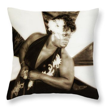 Throw Pillow featuring the photograph The Spirit Club. Another Tenderloin by Mr Photojimsf