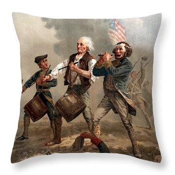 The Spirit Of '76 Throw Pillow