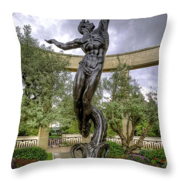 The Spirit Of American Youth Rising Throw Pillow