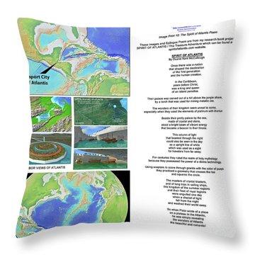 The Spirit Of Atlantis Poem Throw Pillow