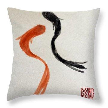 The Spirit Of Goldfish Throw Pillow