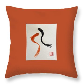 The Spirit Of Goldfish Throw Pillow