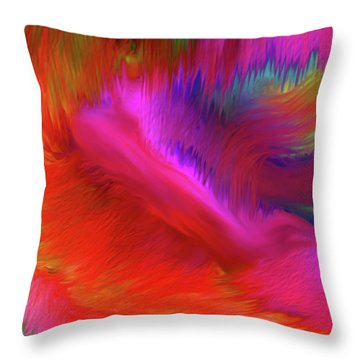 The Spirit Of Life Throw Pillow by Sherri's Of Palm Springs