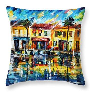 The Spirit Of Miami  Throw Pillow by Leonid Afremov