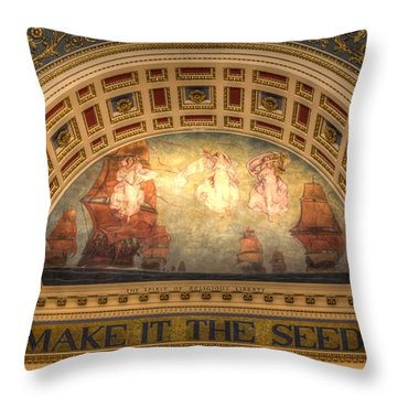 Throw Pillow featuring the photograph The Spirit Of Religious Liberty by Shelley Neff
