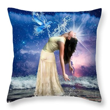 The Spirit Of Truth Throw Pillow by Dolores Develde