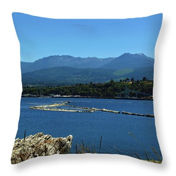 Throw Pillow featuring the photograph The Spit by Tikvah's Hope