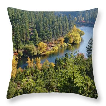 Throw Pillow featuring the photograph The Spokane River  by Ben Upham III