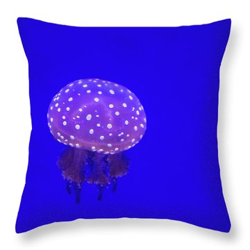 The Spotted Jellyfish Throw Pillow