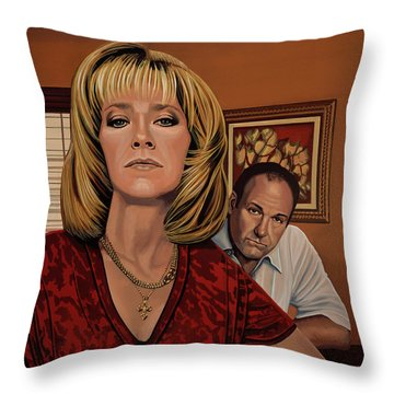 The Sopranos Painting Throw Pillow