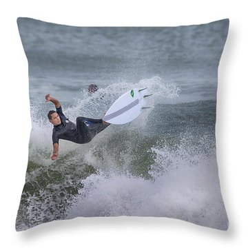 Throw Pillow featuring the photograph The Spray by Deborah Benoit