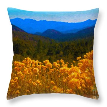 The Spring Mountains Throw Pillow