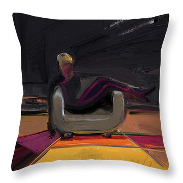 The Spy Throw Pillow by Russell Pierce