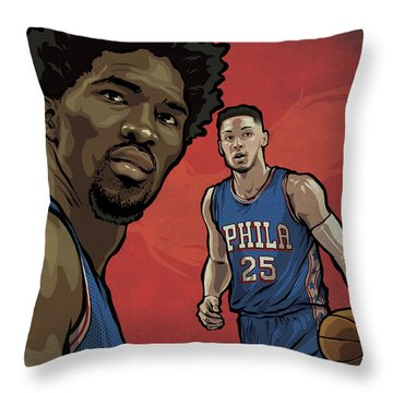 The Squad Throw Pillow