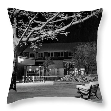 The Square In The Snow Throw Pillow