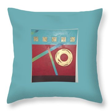 Throw Pillow featuring the painting The Square Wheels Of Progress by Bernard Goodman