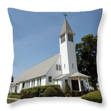 The St Francis De Sales R C Church Throw Pillow