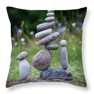 The Stackers Throw Pillow