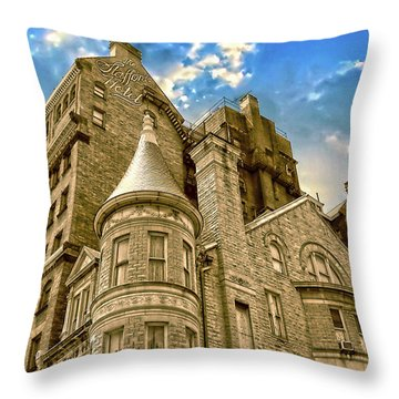 Throw Pillow featuring the photograph The Stafford Hotel by Brian Wallace