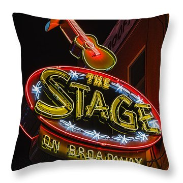 The Stage On Broadway Throw Pillow by Stephen Stookey