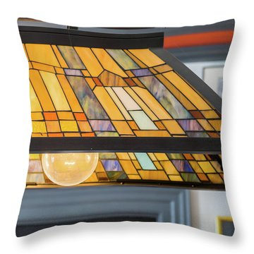 The Stained Glass Throw Pillow