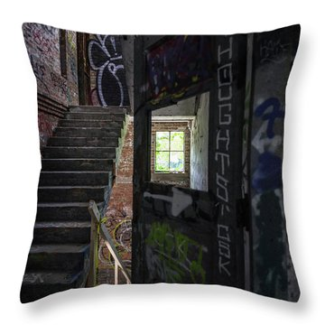 The Stairs Beyond The Door Throw Pillow
