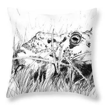 The Stalwart Old Toad Throw Pillow