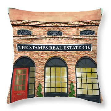 The Stamps Real Estate Co. Throw Pillow