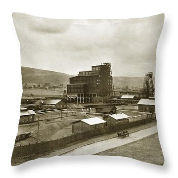 The Stanton Colliery Empire St. The Heights Wilkes Barre Pa Early 1900s Throw Pillow