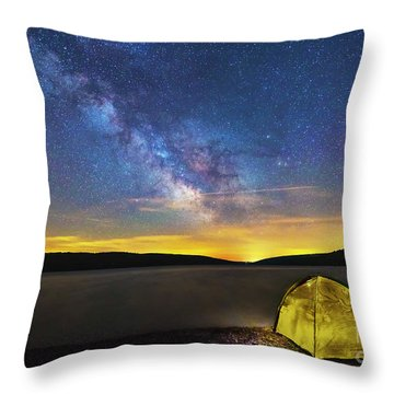 Stellar Camp Throw Pillow