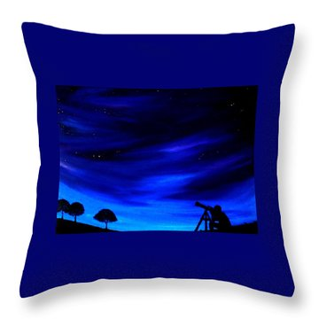 Throw Pillow featuring the painting The Star Gazer by Scott Wilmot