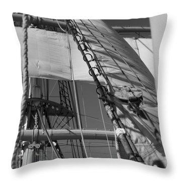The Star Of India Mast Throw Pillow