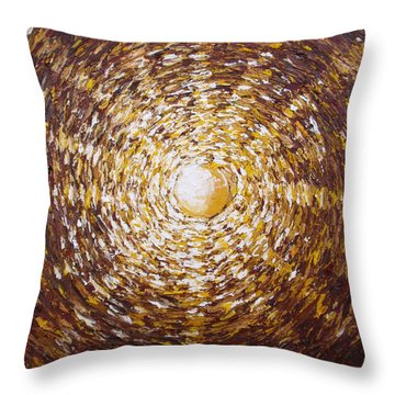 The Star Of Vergina Throw Pillow by Tatjana Popovska
