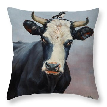 The Stare Throw Pillow by Margaret Stockdale