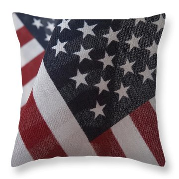 The Stars And Stripes Throw Pillow by Jerry McElroy