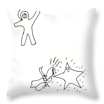 The Stars Were Hot Throw Pillow