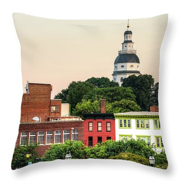 The State Capitol Throw Pillow
