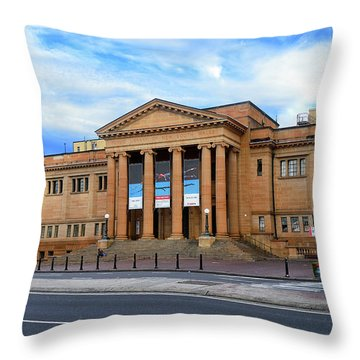 Throw Pillow featuring the photograph The State Library Of New South Wales By Kaye Menner by Kaye Menner