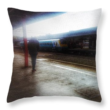 Throw Pillow featuring the photograph The Station by Isabella F Abbie Shores FRSA