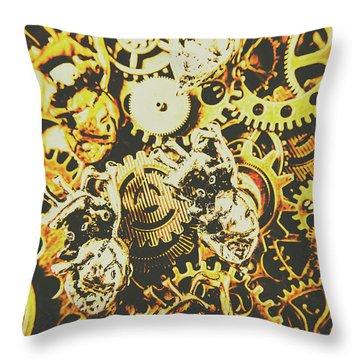 The Steampunk Heart Design Throw Pillow