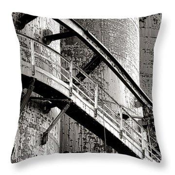 The Steel Citadel Throw Pillow