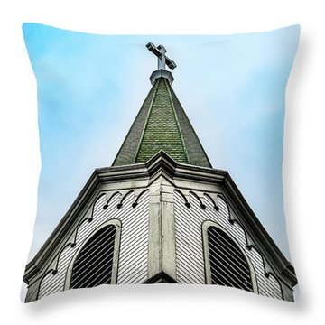 Throw Pillow featuring the photograph The Steeple by Onyonet  Photo Studios
