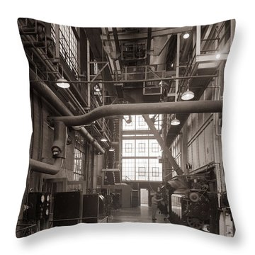 The Stegmaier Brewery Boiler Room Wilkes Barre Pennsylvania 1930's Throw Pillow