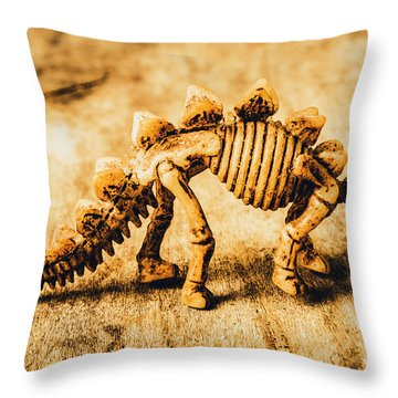 The Stegosaurus Art In Form Throw Pillow