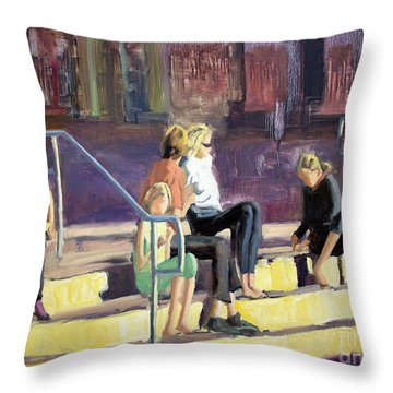 The Steppes Throw Pillow