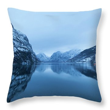 Throw Pillow featuring the photograph The Stillness Of The Sea by David Chandler