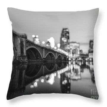 The Central Avenue Bridge Throw Pillow